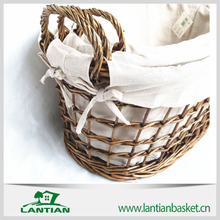 High quality and timely deliver wicker knitting storage basket