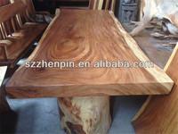 Solid Wood Dining Table Rare Reclaimed Solid Slab Acacia Wood 1.2 Meter diameter