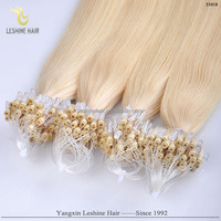 Wholesale Price Italian Keratin Glue Remy Hair Human Hair micro thin weft hair extension