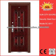 puerta de hierro forjado puerta de acero exterior SC-S017