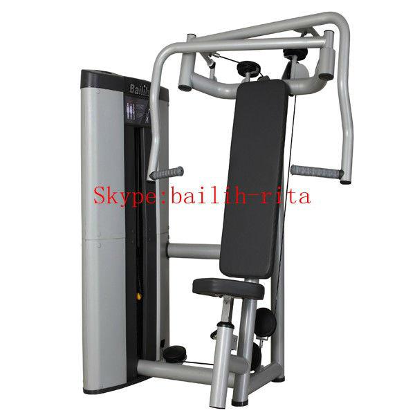 Sentado en el pecho de prensa/comercial máquina de fitness/equipo de gimnasio