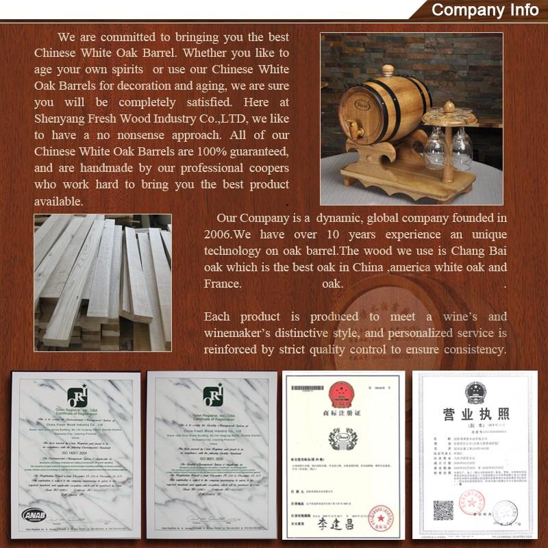 Barril de madeira de carvalho decorativos baratos 0.75L