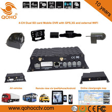 Two SD card Vehicle Mobile Car DVR and 3G / 4G SIM card,Anti-dust , vibration Feature