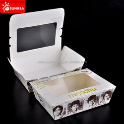 Eco friendly top open paper box / sushi container