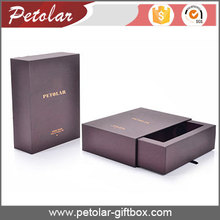 luxury special paper slide open drawer gift box wine packaging box