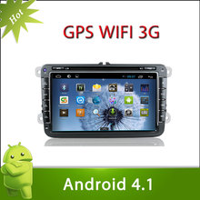 "8"" 2 din VW GOLF V android 4.1 car DVD with Radio,GPS,Ipod,Bluetooth,SWC,Wifi,PIP,3D UI"