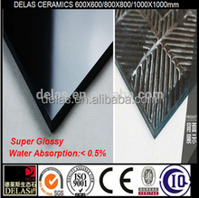 China Dark Super Black Polished Tile