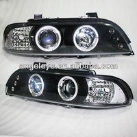 For BMW E39 LED Head Lamp Angel Eyes 1996-2003 year V2