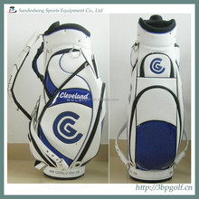 deluxe famous brand pu leather golf cart bag