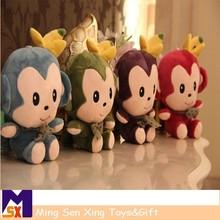 nuevos productos de juguetes de los niños de juguete de felpa mono con plátano