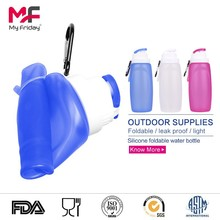 Wholesale bpa free silicone foldable travel cooler bottle holder