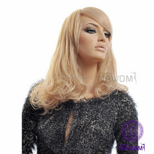 blonde wig high temperature resistance stretch fabric wig