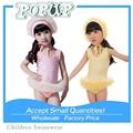 Rendas Ballet vestido de praia de alta qualidade de rosa e amarelo meninas 2015 crianças meninas Swimwear barato One Piece fatos de banho