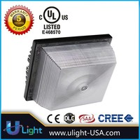 Retrofit LED Canopy Light 60w 90w UL approval dimmable sensor for parking garage petrol Stations