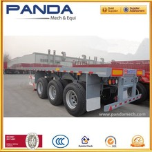 2015new type cheap utility trailer flat deck container semi trailer