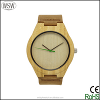 leather bamboo watch, factory wholesale bamboo watch