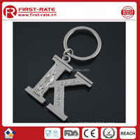 promotional decorative metal letter K keychain