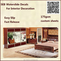 175gsm wood furniture decorative water transfer blank decals for screen printing