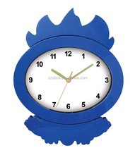 Novelty flame shape wall clock/gift clock OEM Support