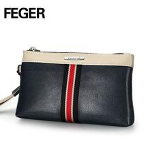 Factory Wholesale PU Leather Men Clutch Bag Men's Zipper Wallet