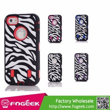 China Cheap Texture High Impact PC & Silicone Combo Case for iPhone 5/5s