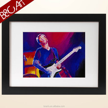 Musical instrument decoration man playing guitar oil painting