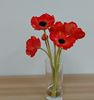 outerside decorative ceremony silk artificial fabric red fty poppy flowers