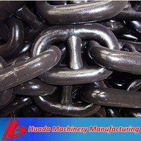 Grade 3 73mm Ship Black Cast Steel Anchor Chains with KR Certificate for Sale
