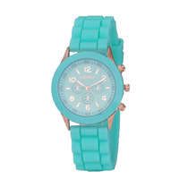 Classic Silicone Rubber Sports Wrist Watch Unisex Candy Colors Factory Price