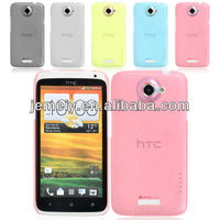 Free shipping pure colors Tpu case for H t c onex