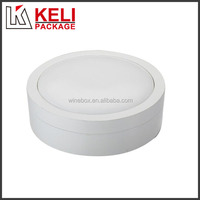 Luxury White Color Round Shaped MDF wooden Jewelry box