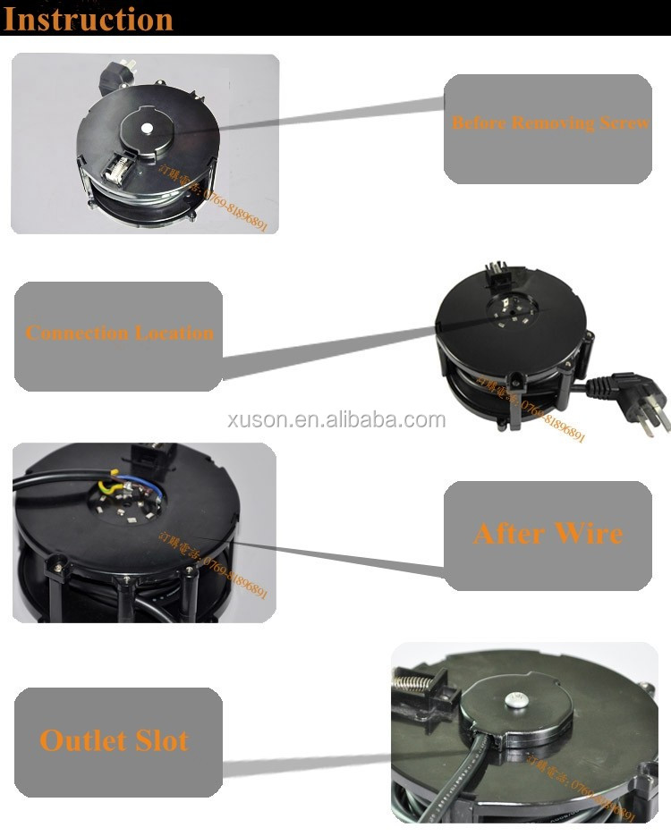 3 m r tractable bobine de c ble de rallonge pour dispositif m dical cordon d 39 alimentation et. Black Bedroom Furniture Sets. Home Design Ideas