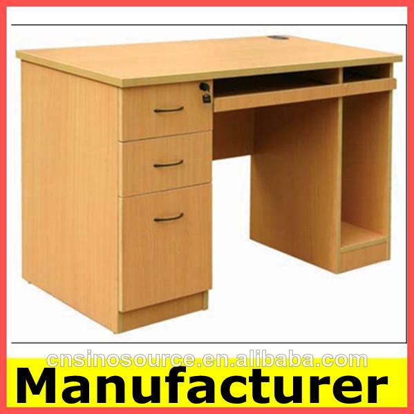 De oficina de madera mesa de ordenador escritorio de la for Mesas de ordenador alcampo
