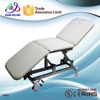 2015 white massage table bed&thermal jade massage bed&electric folding and portable sex massage table (KM-8801)
