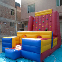 2015 hot commercial climbing wall inflatable inflatable climbing