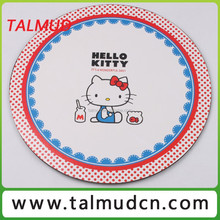 BSCI MDF material Full colours printing round wooden placemat Printing