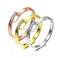 24 carat rose gold CZ engagement ring
