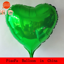 24 inch Heart Automatic Inflatable Aluminum Film Balloons With Drag Rod for children
