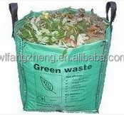 New design construction industrial waste containers Green plastic big bag/fibc bags for garden pp bulk container bag