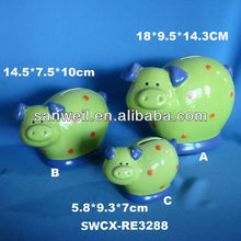 Ceramic pottery money bank