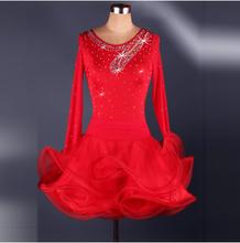 Newest Mosaic diamond Latin dance costumes Adult Latin dance dress