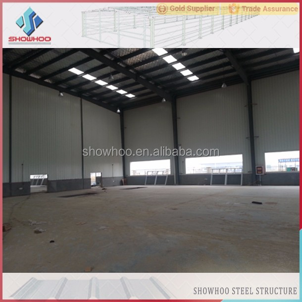 Famous Morden Two-storey Prefabricated Light Steel Space Frame Construction Factory Building