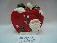ceramic xmas apple,christmas hanging,santa ball
