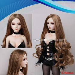 2014 the cheapest and new design long curly american girl doll wigs