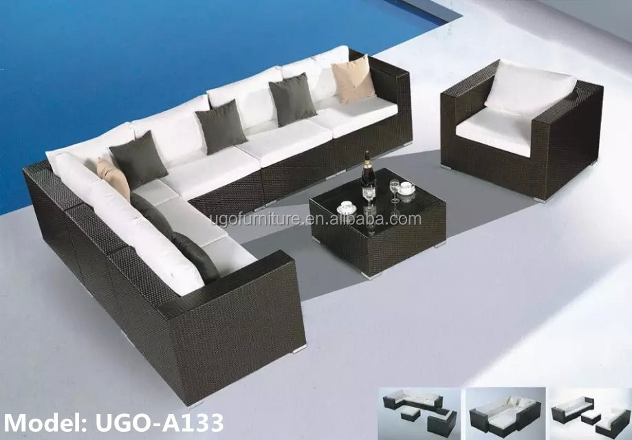 2015 Modern Used Rattan Outdoor Furniture Sofa Set Ugo
