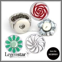 2014 Legenstar 20mm expand snap button ring fashion jewelry NCBRI01