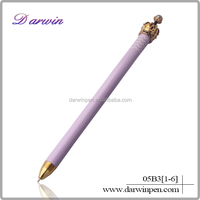 Promotional metal advertising ballpoint crown ball pen