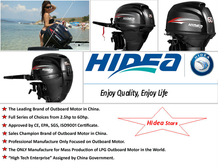 2 STROKE 60HP OUTBOARD MOTOR MADE IN CHINA(HIDEA)