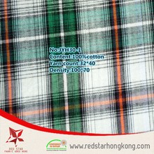 Western woven home textile cotton big plaid shirt fabric suppliers