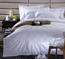 100% hotel de algodón satinado de lujo rey edredón cubrir